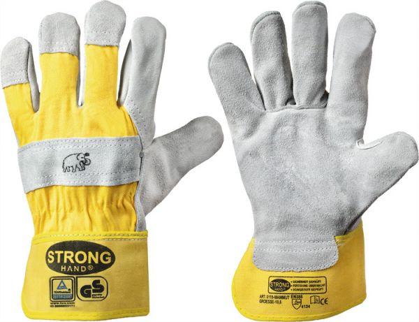 1 Paar Arbeitshandschuhe Rindspaltleder-Handschuh MAMMUT Strong Hand Gr. 8-11