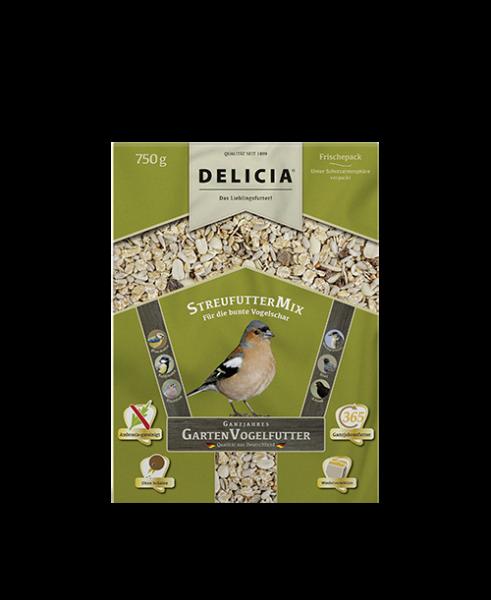 DELICIA StreufutterMix Gartenvogelfutter 750 g