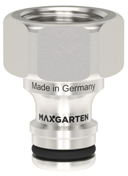 MaxGarten Stecker mit Innengewinde Messing vernickelt robust, kompatibel