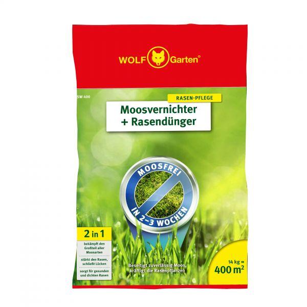 WOLF-Garten SW 400m² 2-in-1 Moosvernichter + Rasendünger