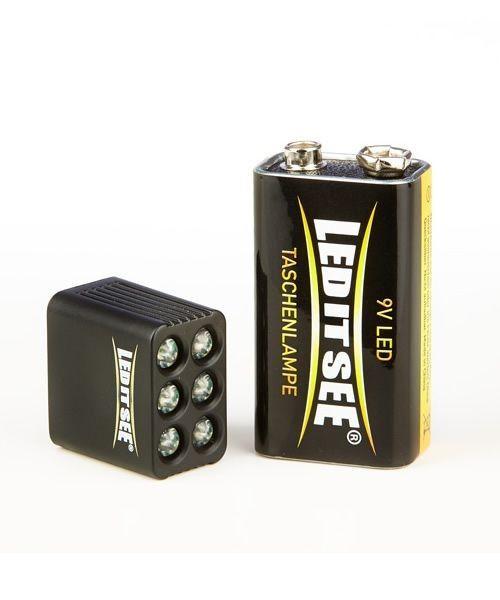 Snickers LEDitsee Taschenlampe 9 Volt extrem klein