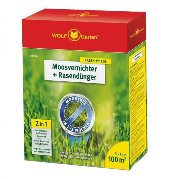 WOLF-Garten SW 100m² 2-in-1 Moosvernichter + Rasendünger