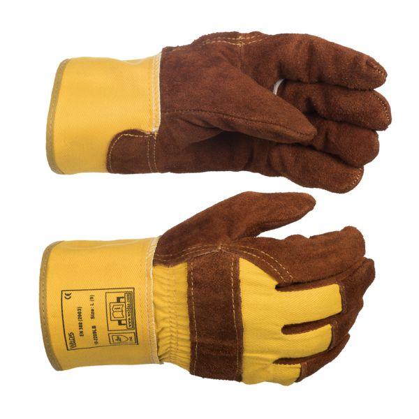 Arbeitshandschuh mit Stulpe, Lava Brown™ Leder