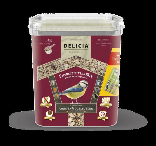 DELICIA EnergiefutterMix Gartenvogelfutter 3 kg