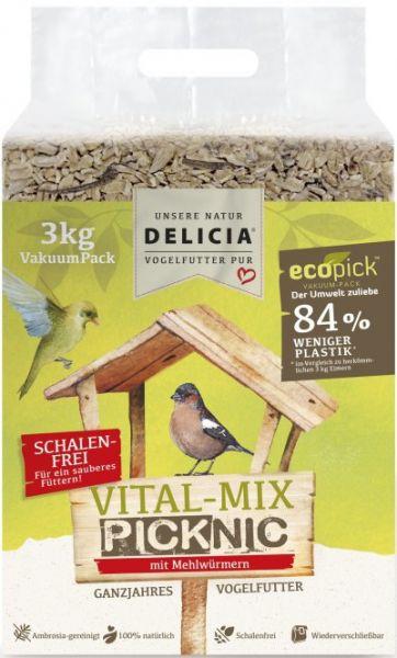 DELICIA Vital Futter Mix Gartenvogelfutter 3 kg
