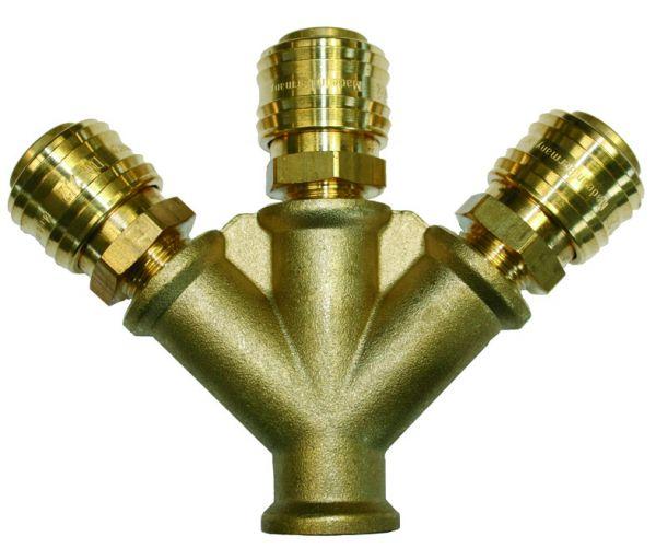 Verteiler für Druckluft inkl. Kupplungen