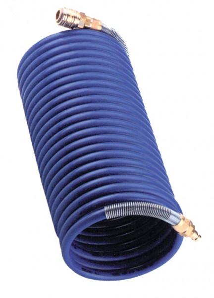 Spiralschlauch komplett mit Kupplung und Stecker 6x 8 mm