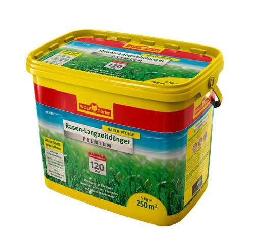 WOLF-Garten LE 250m² Rasen-Langzeitdünger »Premium« für 120 Tage, Rasendünger