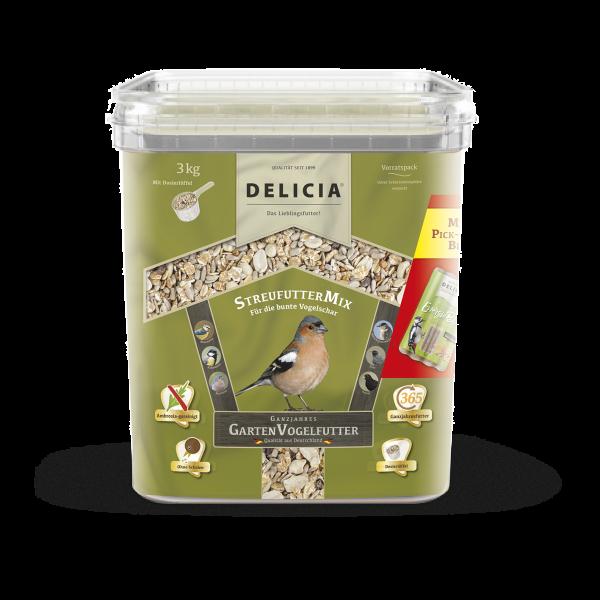 DELICIA StreufutterMix Gartenvogelfutter 3 kg