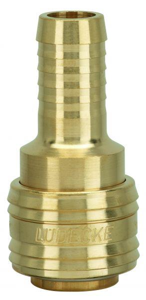 Druckluftkupplung Serie 26 mit Schlauchanschluss