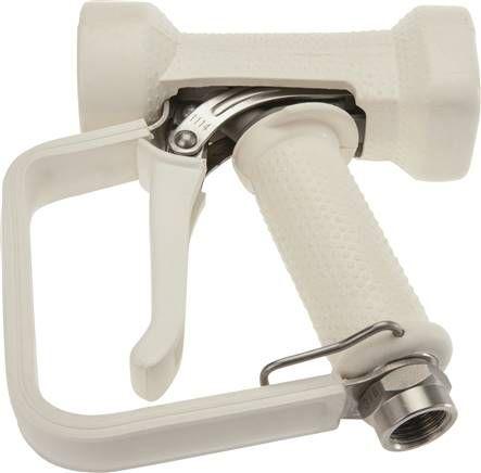 Wassersparpistole mit Sicherheitsbügel, Edelstahl komplett