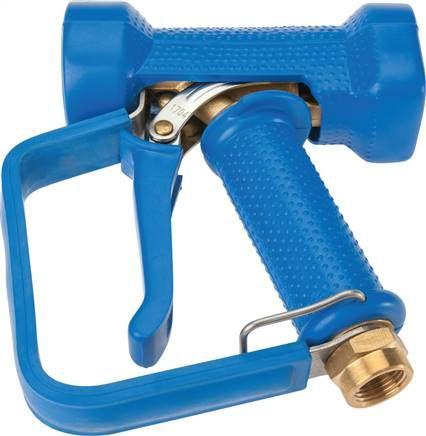 Wassersparpistole mit Sicherheitsbügel, Edelstahl / Messing