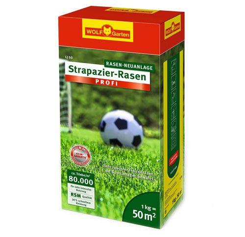 "WOLF-Garten LJ 50m² Strapazier Rasen ""Profi"", Rasen-Samen"