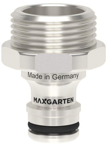 MaxGarten Stecker mit Außengewinde Messing vernickelt