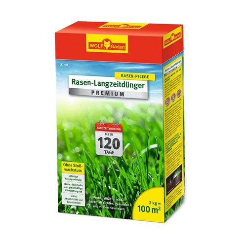 WOLF-Garten LE 100m² Rasen-Langzeitdünger »Premium« für 120 Tage, Rasendünger