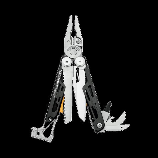 LEATHERMAN SIGNAL black & silver 19 Werkzeuge Multitool für Abenteurer
