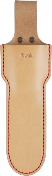 Niwaki Single Holster lang, Gürteltasche für Gartenwerkzeug, handgenäht, Leder