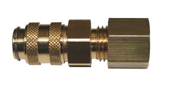 Schnellverschlusskupplung Schneidringanschluss für Propan NW 5
