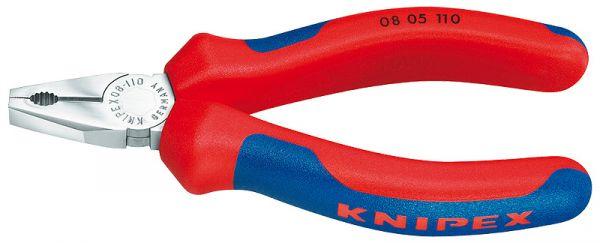 KNIPEX 08 05 110 Mini-Kombizange verchromt Länge 110 mm