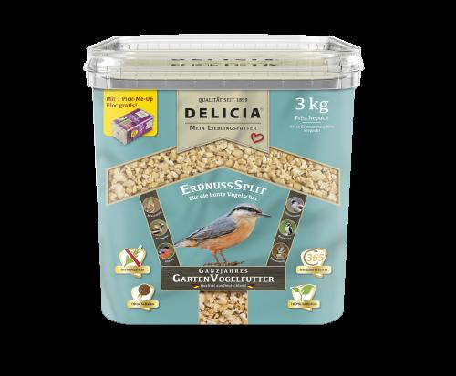 DELICIA® Classico Ganzjahres Garten Vogelfutter NEU! ErdnussSplit